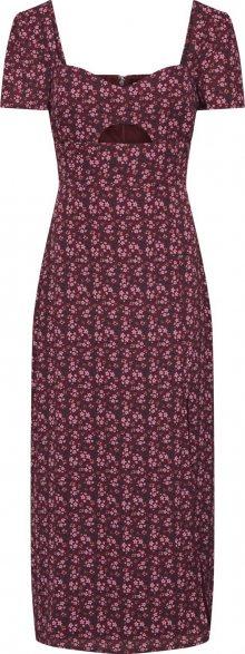 Fashion Union Šaty \'EAGLE\' burgundská červeň