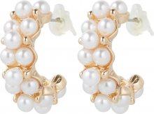 We Are Flowergirls Náušnice \'Pearl Hoop\' perlově bílá / zlatá