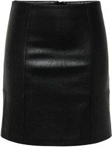 ONLY Dámská sukně ONLSKY FAUX LEATHER SKIRT CC OTW Black 36