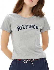 Tommy Hilfiger Dámské triko Cotton Iconic Logo SS Tee Print UW0UW00091-004 Grey Heather M