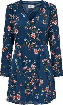 ONLY Dámské šaty ONLCLAIRE L/S SHORT DRESS WVN Dark Denim EMPOWERED FLOWER 36