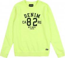 Cars Jeans Mikina \'BOYCAR\' svítivě žlutá
