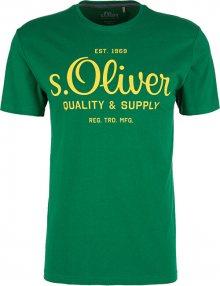 s.Oliver Pánské triko 03.899.32.5264.7662 Green M