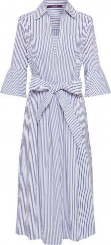 LAUREL Šaty bílá / modrá