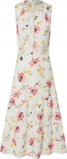 GAP Letní šaty barva bílé vlny / mix barev