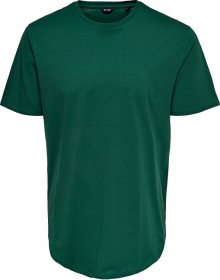 ONLY&SONS Pánské triko ONSMATT LIFE LONGY SS TEE NOOS Posy Green S
