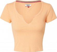 Tommy Jeans Tričko oranžová