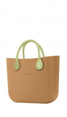 O bag kabelka MINI Biscotto s krátkými limetkovými držadly