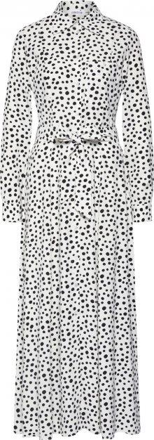 EDITED Košilové šaty \'Jonna\' bílá / černá