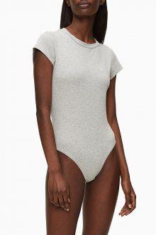 Calvin Klein šedé body Bodysuit S/S - XS