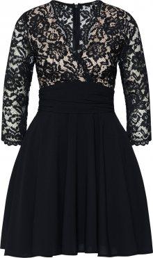 TFNC Koktejlové šaty \'YULIA\' tělová / černá