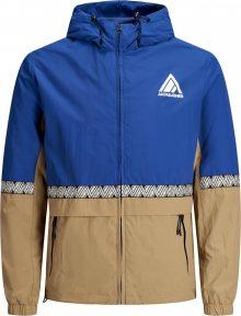 JACK & JONES Přechodná bunda modrá / béžová
