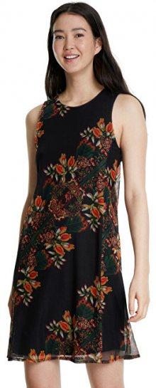 Desigual Dámské šaty Vest Papillon Negro 20SWVK83 2000 S