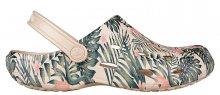 Coqui Dámské pantofle Tina Printed Beige Tropical 1353-204-6100 37