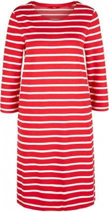 s.Oliver Dámské šaty 14.003.82.2968.31G9 Vibrant coral stripes 34