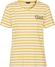 GANT Tričko \'D1. BRETON STRIPE SS\' bílá / žlutá