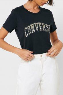 Converse černé tričko s leopardním vzorem - XS