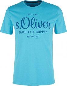 s.Oliver Pánské triko 03.899.32.5264.6242 Turquoise M
