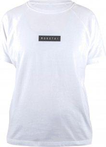 MOROTAI Funkční tričko \' Bloc Logo Shirt \' bílá