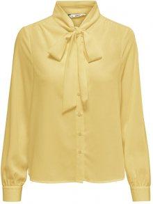 ONLY Dámská košile ONLADIE LIFE L/S  BOW SHIRT WVN Pineapple Slice 36