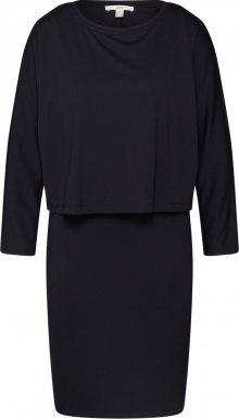 ESPRIT Šaty \'softpunto\' černá