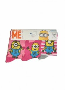 Disney 29298 Mix A\'3 3-pack dívčí ponožky 31-34 fialová-světle modrá
