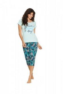 Henderson 38052 Fruity Long dámské pyžamo S mátová-zelená
