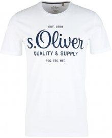 s.Oliver Pánské triko 03.899.32.5264.0100 White S