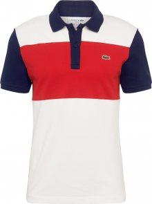 LACOSTE Tričko \' BORD-COTES\' bílá / marine modrá / červená