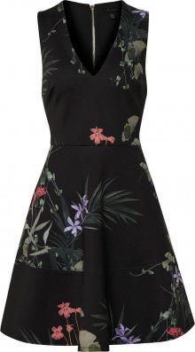 Ted Baker Koktejlové šaty \'Wrapel\' mix barev / černá