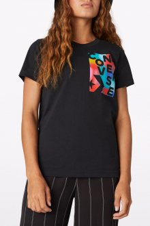 Converse černé tričko Rainbow Crew Tee - S