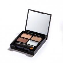 Revolution Paletka na úpravu obočí Focus & Fix Brow Kit (EyeBrow Shaping Kit) Medium Dark