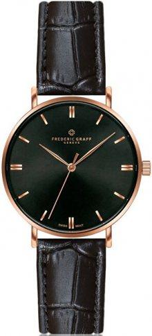 Frederic Graff Gasherbrum Black Croco Leather Strap Watch FBY-B009R