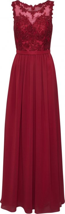 mascara Společenské šaty \'LACE\' vínově červená