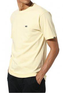 VANS Pánské triko MN Left Chest Logo T Double Cream/Black VN0A3CZEYMB1 L