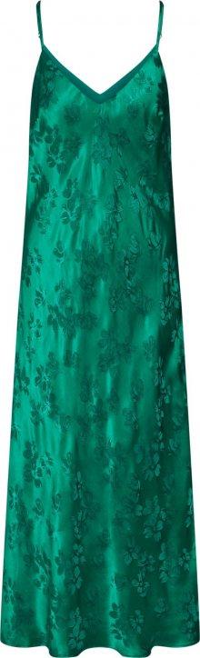 Essentiel Antwerp Koktejlové šaty \'Vegetarian long slip dress\' zelená