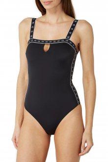 Calvin Klein černé jednodílné plavky Bandeau One Piece - S
