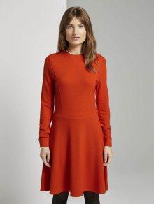 TOM TAILOR DENIM Šaty oranžově červená