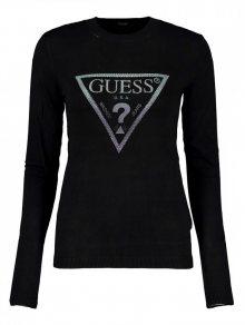 Guess černý svetr s kamínky - XS