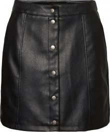 Vero Moda Dámská sukně VMCONNERYRAY HW COATED SHORT SKIRT BOOS Black M