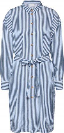VILA Košilové šaty \'Visuka\' bílá / modrá