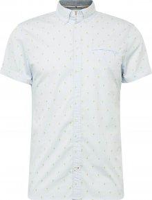 BLEND Košile bílá / světlemodrá