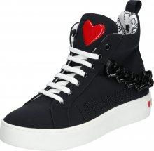 Love Moschino Kotníkové tenisky \'JA1553\' bílá / černá