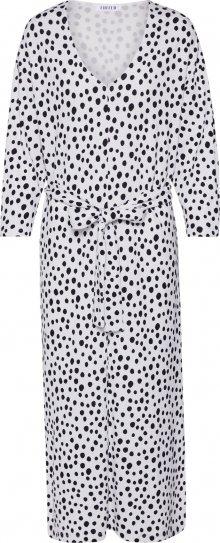 EDITED Košilové šaty \'Zavier\' bílá / černá