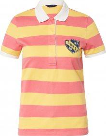 GANT Tričko pink / žlutá