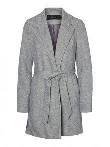 Vero Moda Dámský kabát VMVERODONA TRENCHCOAT COL Light Grey Melange XS