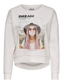 ONLY Dámská mikina ONLZIGGY L/S O-NECK BOX SWT Cloud Dancer DREAM M