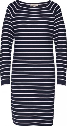 ESPRIT Šaty \'OCS stripe dress\' bílá / námořnická modř