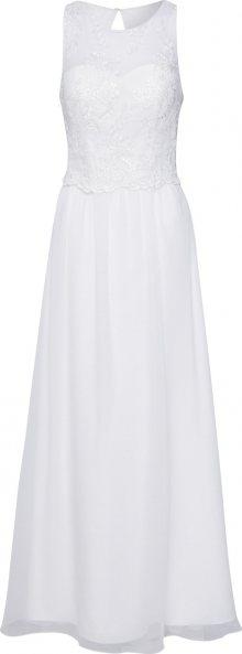 Unique Společenské šaty bílá / krémová