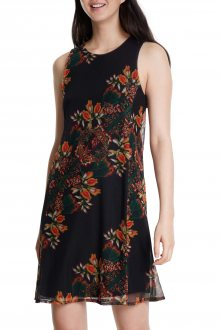 Desigual černé šaty Vest Papillon - XS